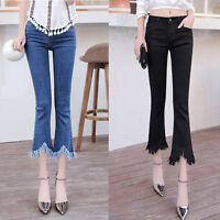 Women's Wide Leg Jeans Flare Bootcut Denim Slim Skinny Trousers Pants-HighWaist