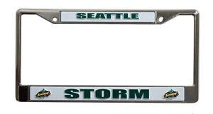 Seattle Storm WNBA Chrome Metal License Plate Frame