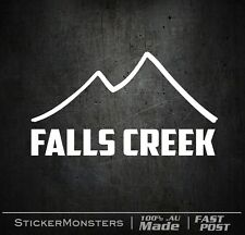 FALLS CREEK Skiing Sticker Decal 125mmW SKI X Car Van Laptop Rossignol K2 Head