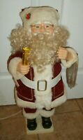 ANIMATED SANTA CLAUS CHRISTMAS TELCO MOTIONETTE FIGURE WORKS NICE!