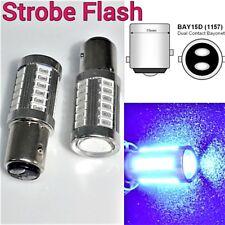 Blue Strobe Brake Light 1157 2057 3496 BAY15D P21/5W 33 LED Bulb B1 #1