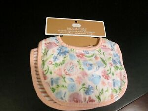 Muslin Bibs Set by Mud Pie, Floral and Striped, NWT
