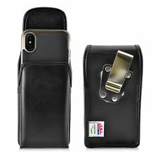 iPhone X Belt Case Vertical Holster Black Leather Heavy Duty Rotating Belt Clip