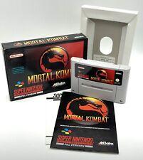 Super Nintendo (SNES) Mortal Kombat - UKV - Very Good Condition - Complete - PAL