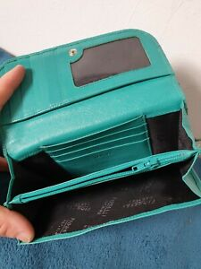 FIORELLI REAL LEATHER TURQUOISE BLUE WALLET PURSE