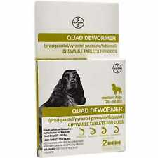 Bayer Quad Dewormer Tablets for Dogs 26-60lbs