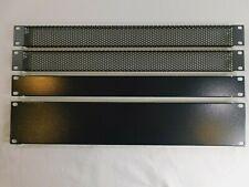 Hyperline Blank Filler Panel 1Ru, 2Ru Solid and (2) 1U Vented Blanks - Lot Of 4