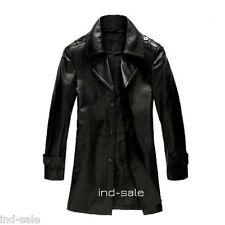Custom Made All Size Genuine Blazer LEATHER JACKET EDH Pea Coat Stylish Black