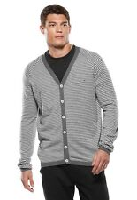 Men's Oakley 50's Cardigan Sweater Silk Cashmere Grey Black Size Small Large S L
