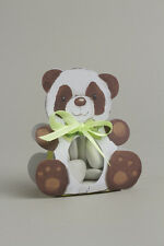 Lot de 6 boites à dragées ballotin panda sans ruban +étui transparent baptême