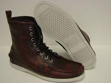 NEW Mens Sz 8.5 SEBAGO Lighthouse B10243 DOCKSIDES Firecracker Red Boots Shoes