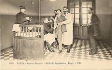 CARTE POSTALE PARIS INSTITUT PASTEUR SALLE DE VACCINATION RAGE