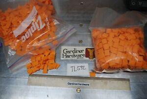 "3/8"" x 11/16"" Orange Wire Shrink Wrap Tubes – Bulk Lot – 1000's – TL592"