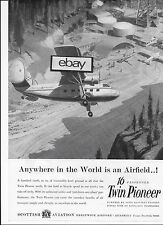 SCOTTISH AVIATION TWIN PIONEER 1958 ANYWHERE IN WORLD IS AN AIRFIELD AD