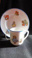 """Rudolstadt """" Happifats"""" (2) plates & (1) cup"""