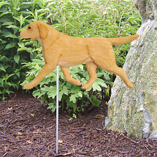 Yellow Labrador Retriever Outdoor Garden Dog Sign Hand Painted Figure