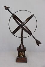 Vintage Metal Astrology Armillary Sundial