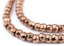 Copper Mursi Ring Beads 8mm Large Hole 16 Inch Strand