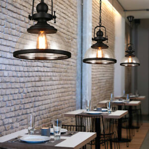 Glass Pendant Light Kitchen Lamp Bar Chandelier Lighting Modern Ceiling Lights
