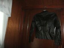 VINTAGE ESTHER CHEN Womens Black Leather vest/jacket size 4 excellent condition