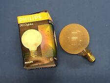RAREZA Philips MINI Globe E14 40W G60 220-235V CRISTAL DE HIELO ÁMBAR