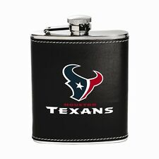Houston Texans NFL Team Flask stainless steel leather wrap 6 oz.