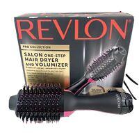 Revlon One-Step Hair Dryer & Volumizer Hot Air Brush Black Pink NEW Open