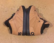 Osiris Convoy Mid Shearling Size 5 US Brown Work BMX DC MOTO Skate Shoes