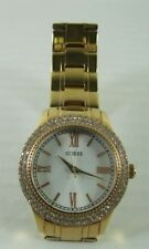 Guess $165 NWOT Watch Rose Gold Stainless Link Band Crystal Accent Face New