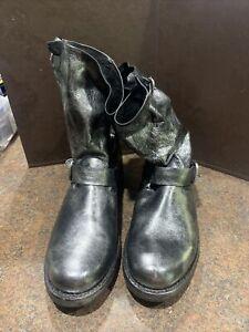 Frye  4015 C 18 sz 9B Black/Silver boots