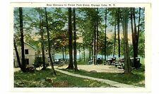 Oquaga Lake Ny - Rear Entrance To Forest Park Camp- Postcard