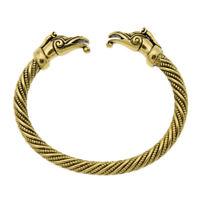 Pagan Viking Dragon Bracelet Bangles for Men Women Gold Cuff Bangle Gift 1 Pc