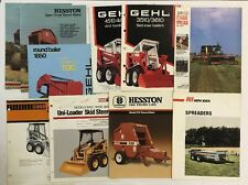 Vintage Farm Tractor Dealers Brochure Lot Gelh, Case IH, Hesston, NI Pamphlets