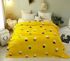 Winter Blanket Fleece Home Textile Woven Printed Bedspread For Sofa Beds Couches
