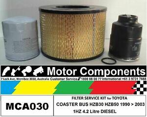 FILTER KIT Air Oil Fuel for TOYOTA COASTER HZB30 HZB50 1HZ 4.2L DIESEL 1990>2003