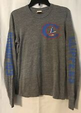 Homage Of Columbus Ohio Clippers Gray Long Sleeve Old C Logo T-Shirt Small