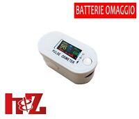 Saturimetro Misuratore di ossigeno Portatile Pulsossimetro Ossimetro bianco