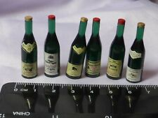 1:12th Scale 6 Bottles Red Wine  Doll House Miniatures