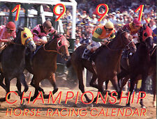 1991 Championship Horse Racing Calendar EX 022616jhe