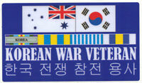 KOREAN WAR VETERAN RAN RIBBONS UV LAMINATED VINYL STICLER 82MM X 145MM KOREA