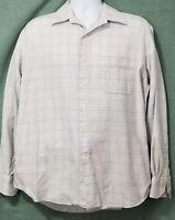 Tommy Bahama Mens Light Blue Plaid Long Sleeve Button Dress Shirt Size 16 34 35