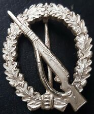 ✚7772✚ German Wehrmacht Infantry Assault Badge Silver post WW2 1957 pattern ST&L