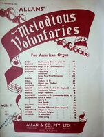 Allans' Melodious Voluntaries for American organ sheet music