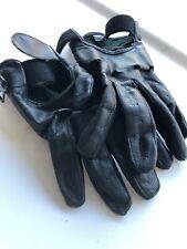 Leather Men's Basic Driving Gloves (Black, Medium)