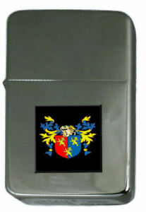 Gates Family Crest Surname Coat Of Arms Cigarette Ligther Personalised Engraved