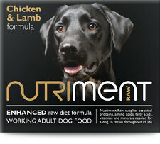 NUTRIMENT Raw BARF diet Dog Food Chicken & Lamb Formula 6kg box of 12 tubs Pet