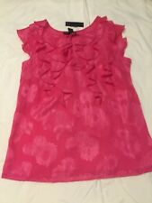 Attention Short Sleeve Blouse Pink Ruffles - Large NEW with tags