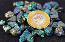 20 gms Mini Peacock Ore Copper Rainbow  Pyrite Crystal Pieces (20grm in Photo)