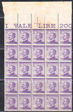 ERITREA - EARLY ITALIAN COLONIES - SCOTT 43 - RARE  MNH BLOCK OF 25 - LOOK!