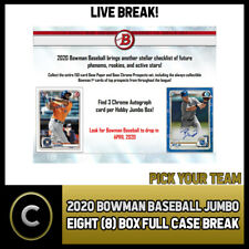 2020 BOWMAN JUMBO BASEBALL 8 BOX (FULL CASE) BREAK #A841 - PICK YOUR TEAM